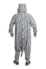 Snow Leopard Animal Kigurumi Adult Onesie Costume Pajamas Back