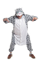 Snow Leopard Animal Kigurumi Adult Onesie Costume Pajamas Main