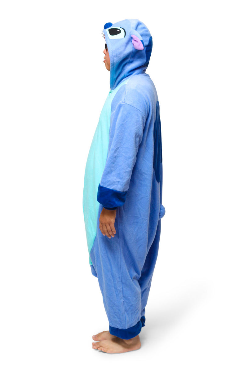 Stitch Character Kigurumi Adult Onesie Costume Pajamas Side