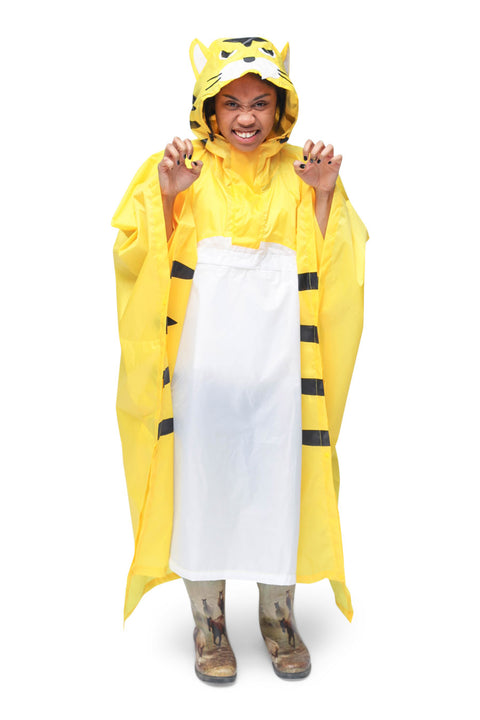 Tiger Kigurumi Poncho Raincoat Adult One Size