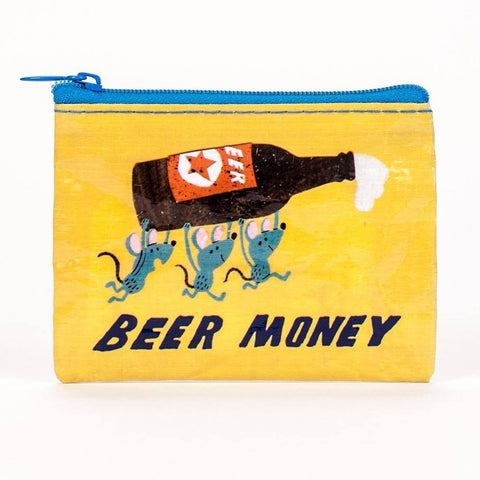 Beer Money Coin Purse Blue Q