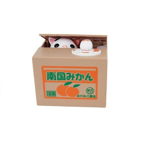 Calico Cat Coin Box Shine