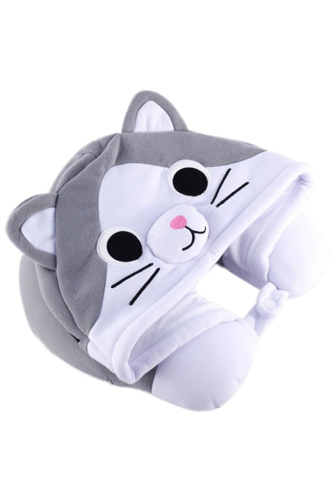 Tabby Cat Neck Pillow Sazac