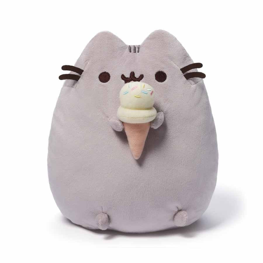 "Pusheen the Cat 10"" Ice Cream Cone Plush GUND"