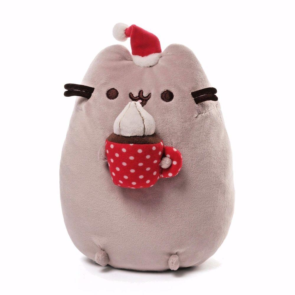 Pusheen the Cat Hot Chocolate Christmas Plush GUND