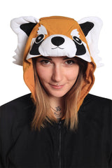 Red Panda Short-Sleeved Kigurumi Onesie Sazac