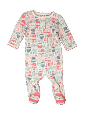 0864a999e Carter's Just One You 6 Month Printed Fleece Long Sleeve Footed Onesie