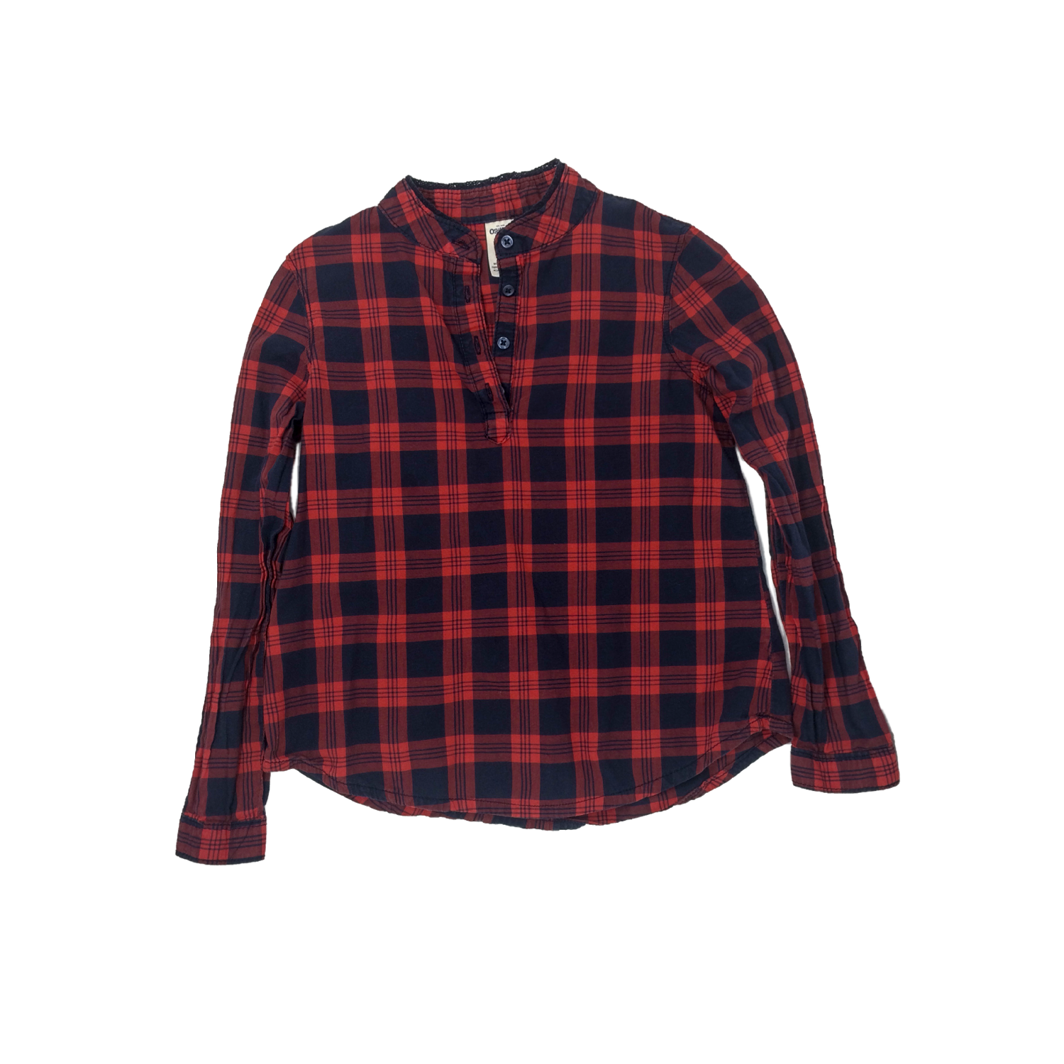 58707aea7 Oshkosh B'Gosh 6X Red Plaid Long Sleeve Henley Shirt – Nouget Kids ...