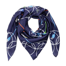 Load image into Gallery viewer, Midnight Power Silk Scarf