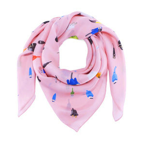 Channel Rose Silk Scarf