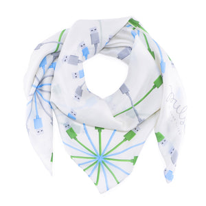 Ivory Connection Silk Scarf