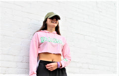 Pink Eracism Crop Top