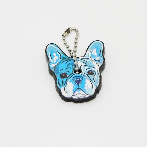 Adorable Silicone French Bulldog Key Cover Cap - Wrinkles & Cupcakes