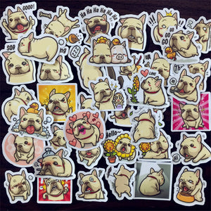 DIY French Bulldog Pocket Stickers