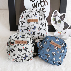 French Bulldog Backpack With Leash Set