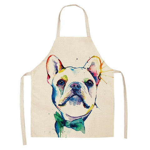 French Bulldog Print Kitchen Aprons