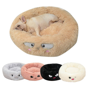 Plush Round Frenchie Bed