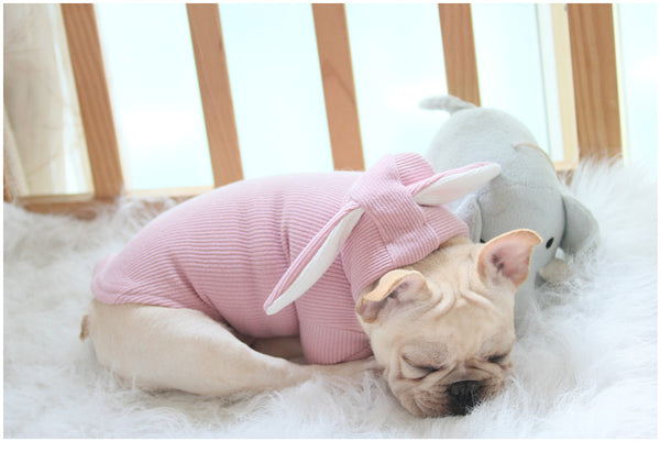 Rabbit Ear French Bulldog Sweater - Wrinkles & Cupcakes