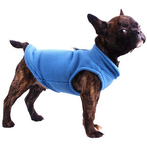 Warm Fleece Sweater Vest For French Bulldog - Wrinkles & Cupcakes