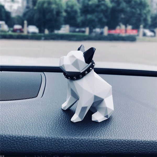 Geometric French Bulldog Car or Office Interior Fragrance Diffuser - Wrinkles & Cupcakes