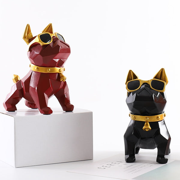 Cute French Bulldog Geometry Decorative Statue