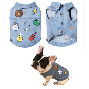 Dapper Denim Frenchie Vest