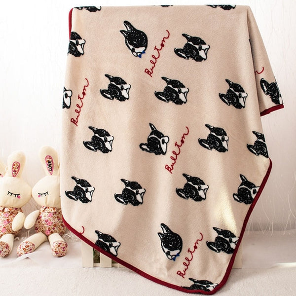 Soft Fleece Frenchie Blanket