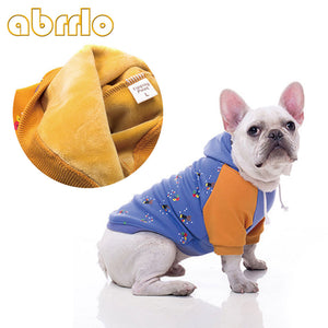 Soft Plush Velvet French Bulldog Hoodie