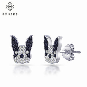 Stud French Bulldog Earrings