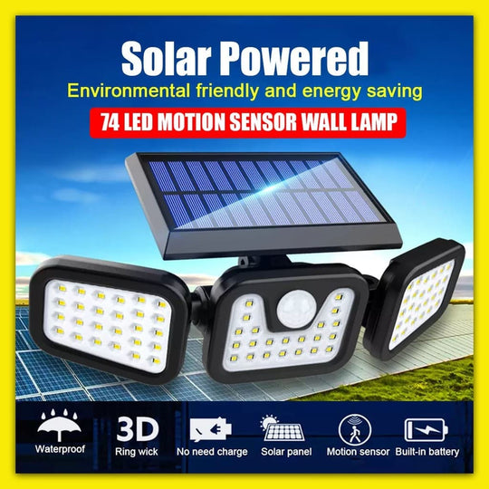 70% OFF Solar Powered LED Lamp