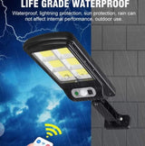 50% OFF Solar Powered Pole Lamp w/ Remote Control