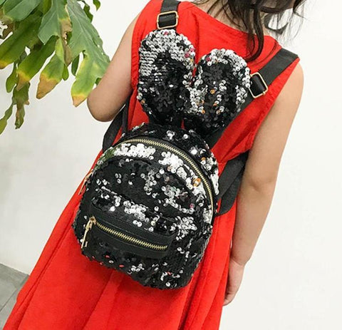 3Pcs Sequin Bunny Rabbit Small Mini Backpack