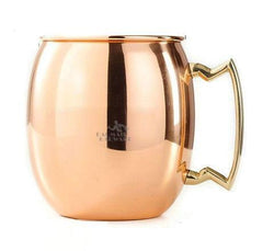 Large Stainless Steel Copper Plated Beer Tea Cup Coffee Mugs