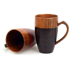 Premium Large Tall Handmade Wooden Tea Cup Coffee Mugs