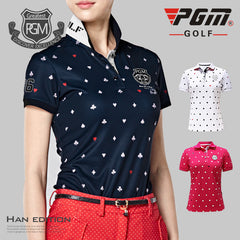 Short Sleeve Breathable Clothes Women Golf Shirts