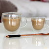 Image of Handle Gift Double Glass Espresso Teacup Coffee Mugs