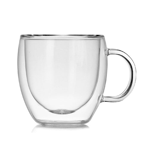 Handle Gift Double Glass Espresso Teacup Coffee Mugs
