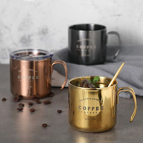 Stainless Steel Gold Rose Sliver Plating Tea Cup Coffee Mugs