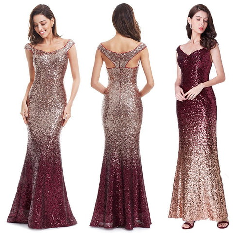Long Sequin Gown Mermaid Dress