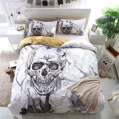 Flower Skull Bedding Set