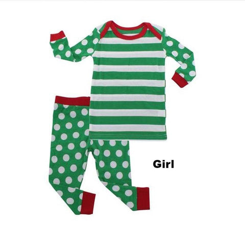 Cute Dot PJS Matching Family Christmas Pajamas