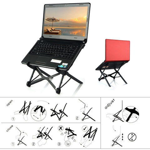 Foldable Folding Portable Ergonomic Height Adjustable Laptop Stand Support Rest