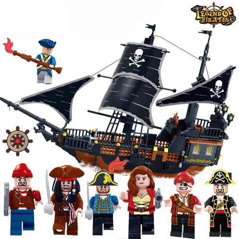 Pirate Ship Black Pearl Model Building Blocks