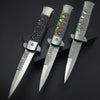 Image of Clip Ghost Skull Hunting Camping Folding Pocket Knife