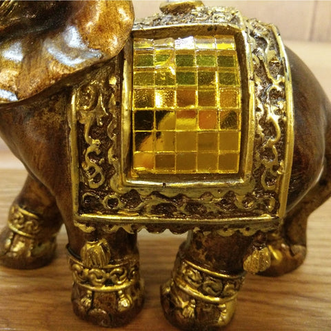 Statue Figurines Resin Elephant Decor