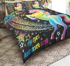 3D Rainbow Unicorn Bedding Set