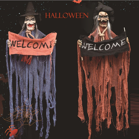 Hang Welcome Door Bar Halloween Ghost Skeleton Skull Party Decorations