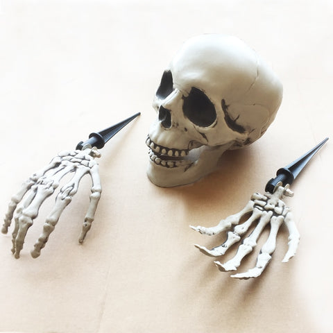 Halloween Skeleton Lawn Skull Haunted Horror Party Decorations