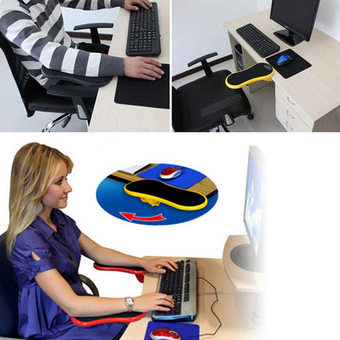 Computer Desk Extender Mouse Pad Ergonomic Arm Wrist Support Rest
