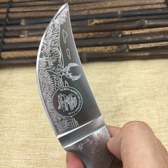 Wood Handle Hunting Camping Knife